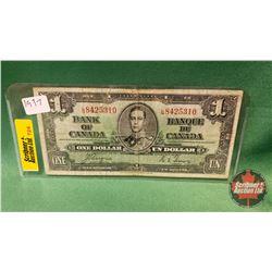 Canada One Dollar Bill 1937 Coyne/Towers