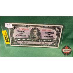 Canada Ten Dollar Bill 1937 Gordon/Towers