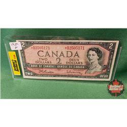 Canada Two Dollar Bills 1954 Beattie/Rasminsky