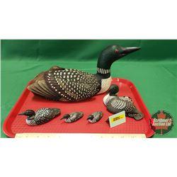 Loon Family Ornaments (5)