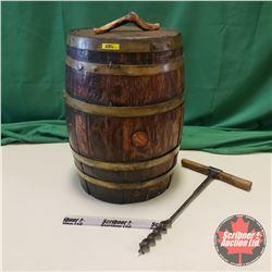 "Keg Barrel (22""H) & Keg Tap Screw"