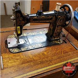 """Cabinet Sewing Machine """"Seamstress Rotary"""" S/N#103284 (Notions in the Drawer) (When Closed 30""""H x 24"""