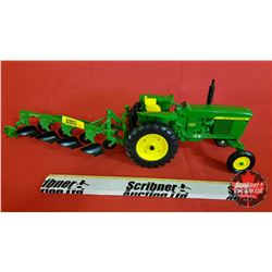 Diecast Toy : John Deere 3020 with Four Bottom Plow & Single Dual (1:16 Scale)