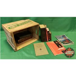 Wooden Canada Dry Crate with Variety of Books (10) (Incl: Blasters Hand Book, Carpentry, Everyday Re