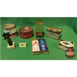 Smokers Combo: 4 Tobacco Tins, Zippo Lighter Fluid with Lighter & Flints, L. Gillinson Leeds Lighter