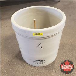 Medalta Potteries 4 Gallon Crock (c/w Wooden Plug for Bottom Hole)
