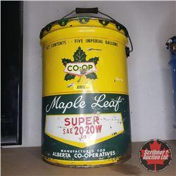 CO-OP Maple Leaf 5 Imperial Gallon Pail