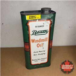 Beatty Windmill Oil Tin (Full)