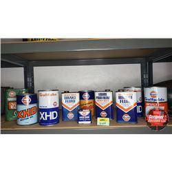 Gulf Petroliana Tin Collection (10)