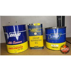 Varcon Tin Trio : Cream Separator Oil, Grease & Anti-Freeze