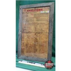 Shell Oil Company Framed Double Sided 1953-54 Specification Chart