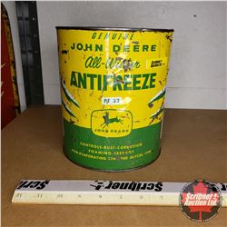 John Deere Anti-Freeze Tin