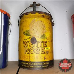 White Rose 5 Gallon Oil Pail
