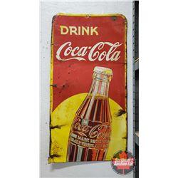 "Drink Coca-Cola Cut Off Sign (32""H x 17""W)"