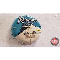 "Kokanee Glacier Pilsner Advertising Clock (10""dia)"