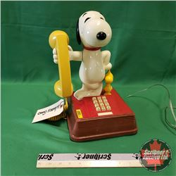 """Snoopy & Woodstock Push Button Telephone (13-1/2"""" H)"""