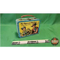 """Roy Rogers & Dale Evans Vintage Tin Lunch Box """"Double R Bar Ranch"""""""