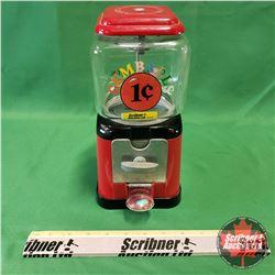 Continental 1¢ Gumball Machine
