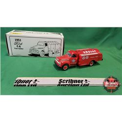 """Diecast Toy : 1951 Ford F-6 Fuel Tanker """"Skelly Fortifield Oils"""""""