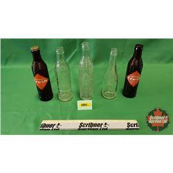 Vintage Pop Bottle Group (5): Old Colony; Canada Dry; Orange Crush (3)