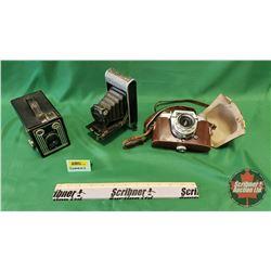 Camera Trio: Brownie, Coronet & Voigtlander