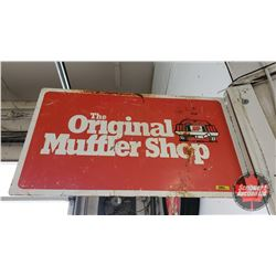 "The Original Muffler Shop Flange Sign - Double Sided Metal (17-1/2"" H x 30""W)"