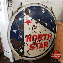 North Star Double Sided Service Station Enamel Sign (5' Dia)
