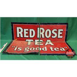 "Red Rose Tea Sign (4 Pcs) (32""H x 46-1/2""L)"