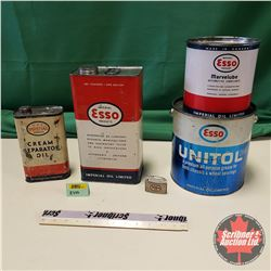 Esso Combo: Tins (4) & Lighter