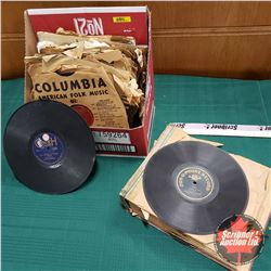 Box Lot: Variety of 78 rpm Records (59 Total)