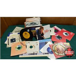 Box Lot: Variety of 45 rpm Records (77 Total)
