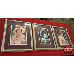 "Coca-Cola Framed & Matted Prints (3) (22""H x 18""W)"