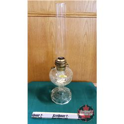 "Oil Lamp : Aladdin Model C Washington Drape (Total Height 24"")"
