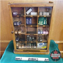 "Baribeau & Sons Fabric Dye Store Display (19""H x 15""W x 7""D)"