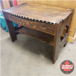 "Oak Desk w/Dowel Construction (30""H x 45""L x 30""W)"
