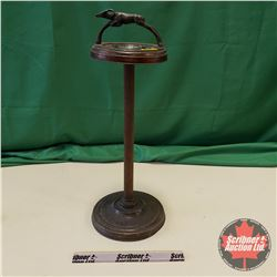 "Jumping Ram Handled Standing Ashtray (26""H)"