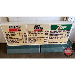 "Pepsi Menu Board - Light Not Working (20""H x 53""W x 5""D)"
