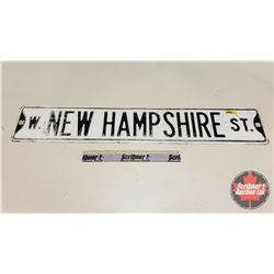 """W. New Hampshire St"" Street Sign - Authentic (6""H x 34""W)"