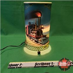 "1956 Econolite Motion Lamp : John Bull Locomotive (11""H)"
