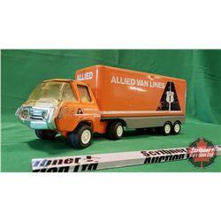 "Tonka Metal Toy Truck & Trailer ""Allied Vanlines"" (5-1/2""H x 16""L x 4""W)"