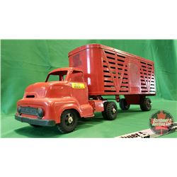 "Buckeye Metal Toy Truck & Livestock Trailer (9""H x 23""L x 6""W)"