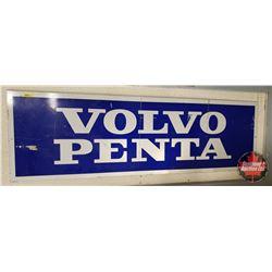 "Volvo Penta Single Sided Aluminum Sign (18""H x 59""W)"