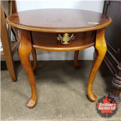 """Round Wooden End Table (24"""" Dia x 21""""H)"""