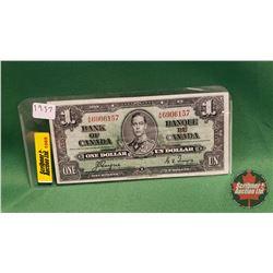 Canada One Dollar Bill : 1937 Coyne/Towers A/N6906157
