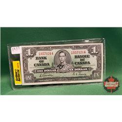 Canada One Dollar Bill : 1937 Gordon/Towers K/M3571214