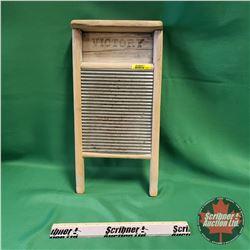 "Victory Tin Washboard (17""H x 8-1/2""W)"