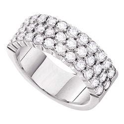 1 CTW Round Diamond Wedding Pave Ring 14kt White Gold - REF-101M9A