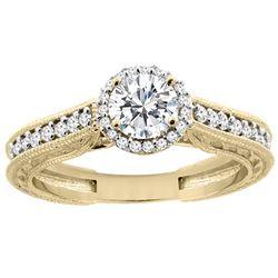 0.64 CTW Diamond Ring 14K Yellow Gold - REF-111M5A