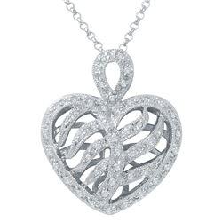 0.38 CTW Diamond Necklace 14K White Gold - REF-36X6R