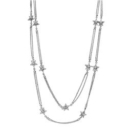 0.90 CTW Diamond Necklace 18K White Gold - REF-146F7N